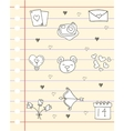 Love theme for paper vector image