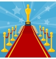 red carpet award vector image vector image