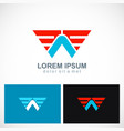 triangle wing fly abstract company logo vector image
