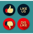 Like us and Dislike symbols vector image vector image