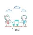 friend vector image