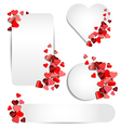 Set of heart frame for Valentine day vector image