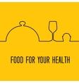 Munu food design vector image vector image