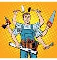 multi-armed master repair professional vector image vector image