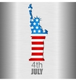 Background with US flag and statue of Liberty vector image