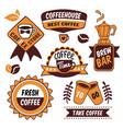 coffee to go logos vector image