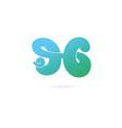 letters l g logo design template elements vector image