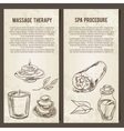 Massage SPA and relax procedure Set of vector image