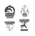 MMA vintage emblems labels badge logos vector image