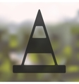 road cones icon on blurred background vector image