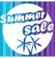 Summer sale design banner background vector image