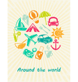 Traveling card vector image