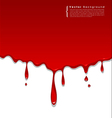 Red blood background vector image vector image