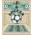 Soccer World Championship Poster vector image vector image