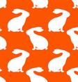 Rabbit Patterned Wallpaper vector image