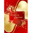 abstract xmas card vector image vector image