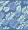 tender pale blue and green tropical leaves vector image vector image