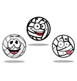White cartoon volley balls characters vector image vector image