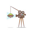 Isolated cartoon creating fake aliens movie vector image