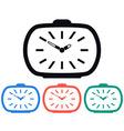 Vintage Alarm Clock Icon vector image