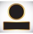 Gold Frame Template vector image vector image