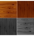 Set of realistic brown and grey wood boards vector image