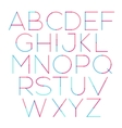 thin font with round and soft strokes vector image