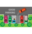 Good Parking Top View vector image