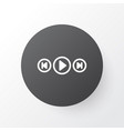 media player icon symbol premium quality isolated vector image