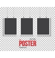 Poster Mockup Set Realistic EPS10 vector image