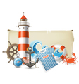 Sea border vector image