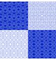 set of Eastern ethnic geometric patterns vector image