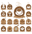 icons for coffee vector image vector image