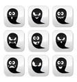 Halloween ghost buttons set - scary vector image