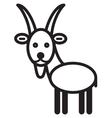 Cute animal goat - vector image vector image