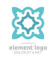 flower elements lines design abstract vector image