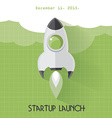 startup launch concept vector image