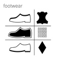 footwear label vector image