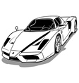 Luxurious Sport Car vector image