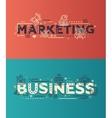 Modern flat design Marketing Business lettering vector image
