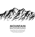 Mountain range isolated on white background vector image vector image