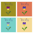 assembly flat nature plant viola vector image