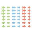 colored shiny arrows vector image
