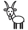 Cute animal goat - vector image