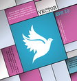 Dove icon sign Modern flat style for your design vector image