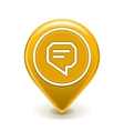 Message Icon Map Pin vector image