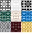Set of 9 ethnic boho seamless pattern vector image