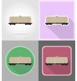 railway transport flat icons 08 vector image