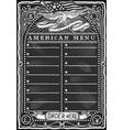 Vintage Graphic Blackboard for American Menu vector image