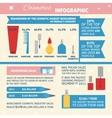 Cosmetics infographic vector image